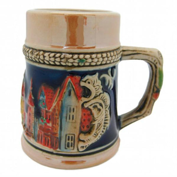 German Village Shot Glass Beer Stein