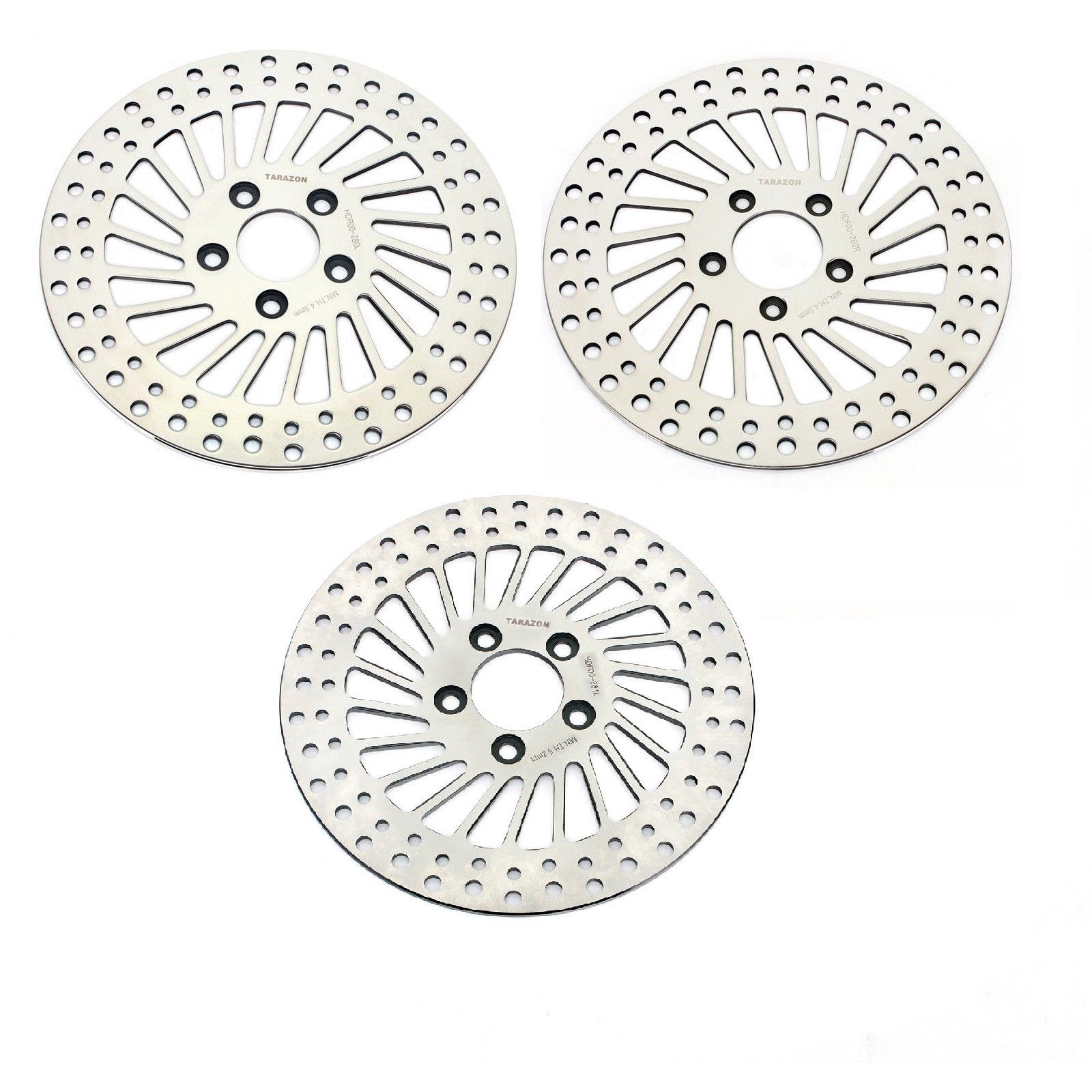 HARLEY FRONT & REAR BRAKE DISC ROTORS Roadking Streetglide