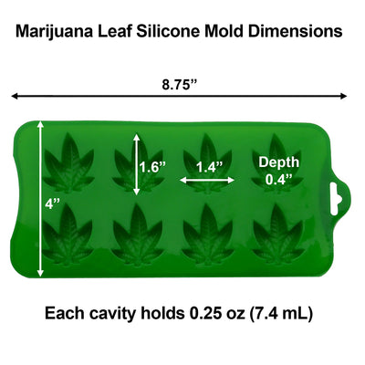 Marijuana Cannabis Hemp Leaf Silicone Molds Candy Weed Pot Mold Chocolate Gummy