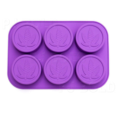 Marijuana Leaf Silicone Soap Mold Tray, 2 Pack, 12 Cavities