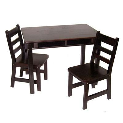 Rect Table Chair Set Espresso