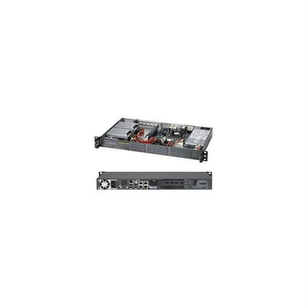 Supermicro SuperChassis CSE-504-203B 200W Mini 1U Rackmount Server Chassis (Black, OPEN BOX)