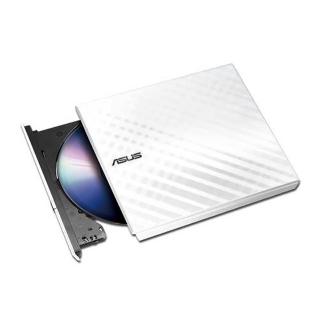 Asus SDRW-08D2S-U-WHT-G-AS 8X USB2.0 DVD+--RW Slim External Writer (White), Retail