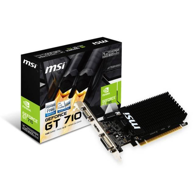 MSI NVIDIA GeForce GT 710 1GB DDR3 VGA-DVI-HDMI Low Profile PCI-Express Video Card