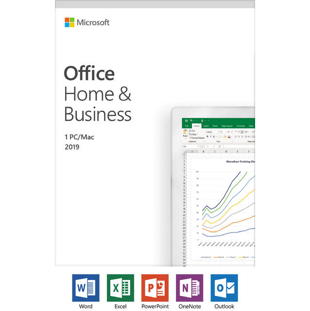 Microsoft Office Home and Business 2019 - 1 device, Windows 10 PC-Mac Key Card