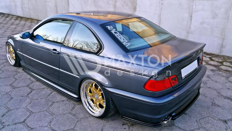 Bmw 3 Series E46 M Pack Coupe Center Rear Splitter With Vertical Bars