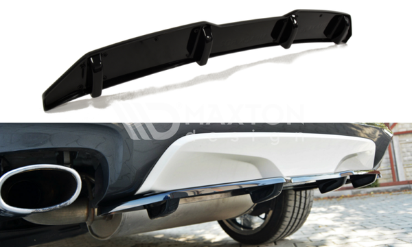 BMW - X4 F26 - M-PACK - Central Rear Splitter - With a Vertical Bar