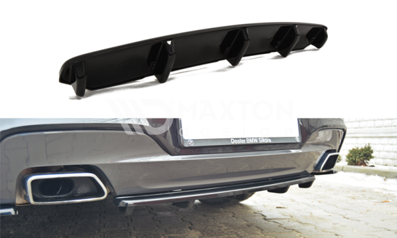 BMW - 6 Series - F06 - MPACK - Central Rear Splitter - With Vertical Bars