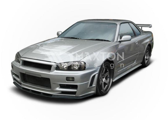 Nissan - Skyline R34 GTR - Z Type - Front Bumper - (Without Diffusers)