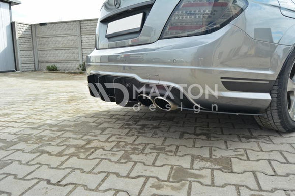 Mercedes - C-Class - W204 - Rear Diffuser - Rear Side Splitter - Facelift