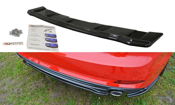 Audi - A5 B9 - S-Line - Rear Center Splitter (without vertical bars)