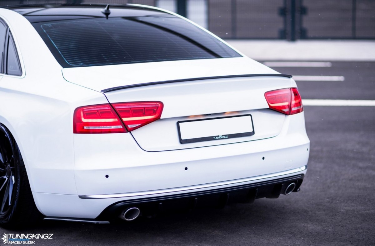 Audi A8 D4 Rear Side Splitters Maxton Design Canada