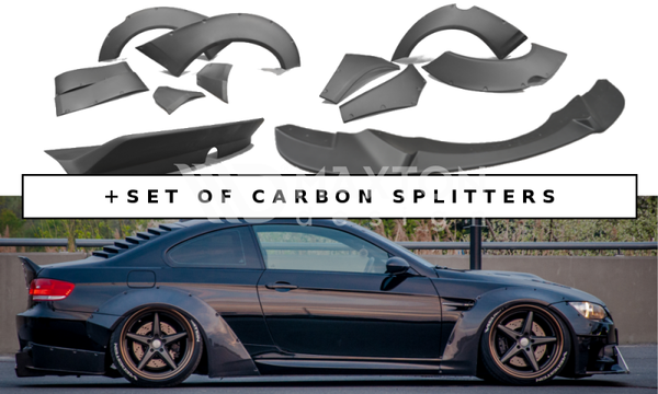 BMW - M3 - E92 - Wide Body - Set of Carbon Splitters