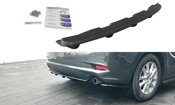 MAZDA - 3 - MK3 FACELIFT - CENTRAL REAR SPLITTER WITH VERTICAL BARS