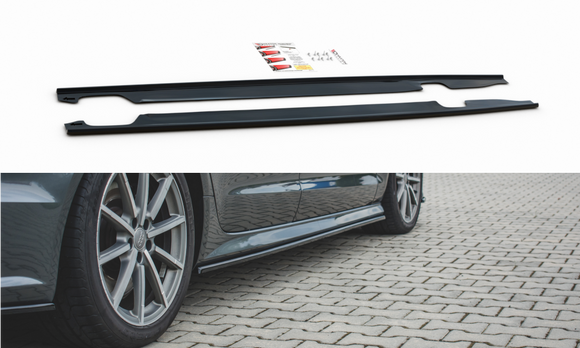 Audi - A6 C7 / S6 C7 - S-Line - Side Skirts Diffusers - Facelift - V2
