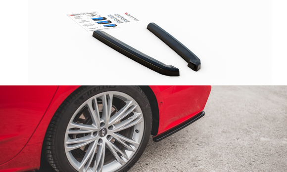 Audi -  A7 S-LINE C8 - Rear Side Splitters