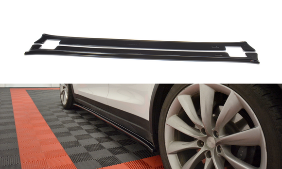 Tesla - Model X - Side Skirts Diffuser - V1