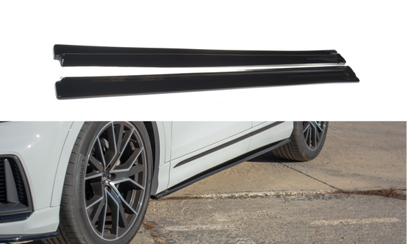 Audi -  Q8 - S-LINE - MK1 - Side Skirts Diffusers