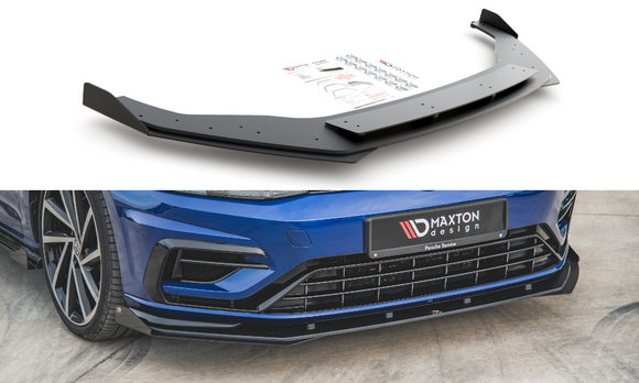 Volkswagen - MK7.5 Golf R - Front Durability Racing Splitter + Wings - V1