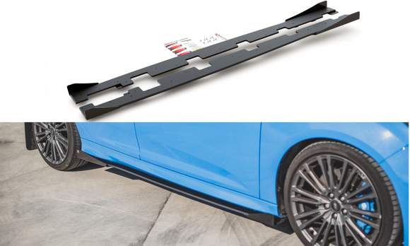 Ford Focus - MK3 RS -  Racing Durability Side Skirts Diffusers - V1 + Wings