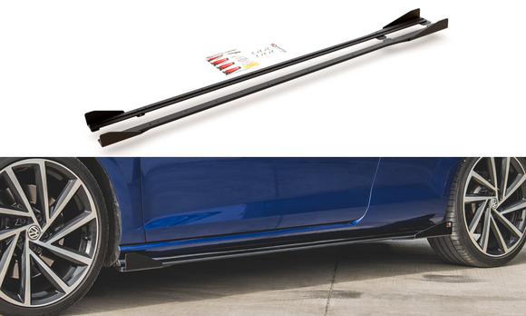 Volkswagen - MK7.5 Golf R -  Racing Durability Side Skirts Diffusers + Wings