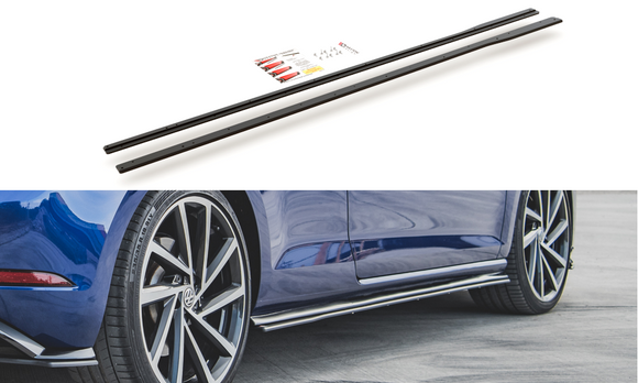 Volkswagen - MK7.5 Golf R -  Racing Durability Side Skirts Diffusers