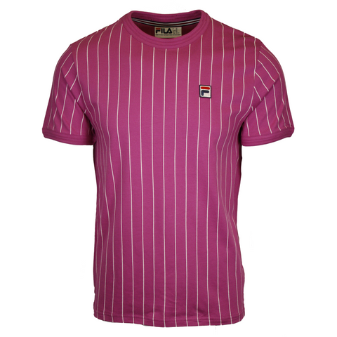 FILA Men's Orchid Pink & White Striped F-Box S/S T-Shirt (258)