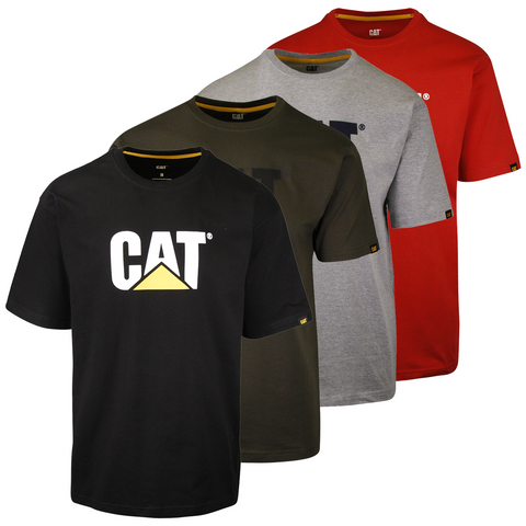 Caterpillar Men's Solid Color 3D Trademark S/S T-Shirt (S01)