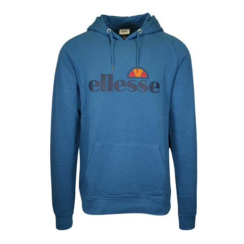 Ellesse Men's Teal Blue Timavo Pull Over Hoodie (S02)