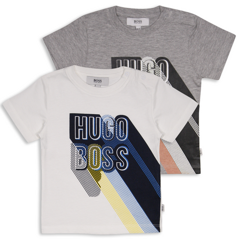 Hugo Boss Kid's Long Shadow Text S/S T-Shirt (S09)