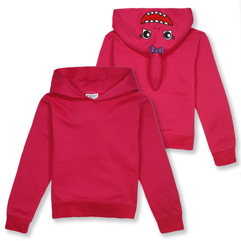 Wild Child Hoodies Kid's Pink Shark Pull Over Hoodie (S06)