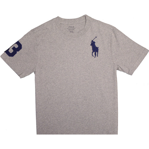 Polo Ralph Lauren Kid's Big Pony #3 Heather Grey S/S T-Shirt
