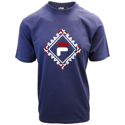 FILA Men's Navy Square S/S T-Shirt (S03A)