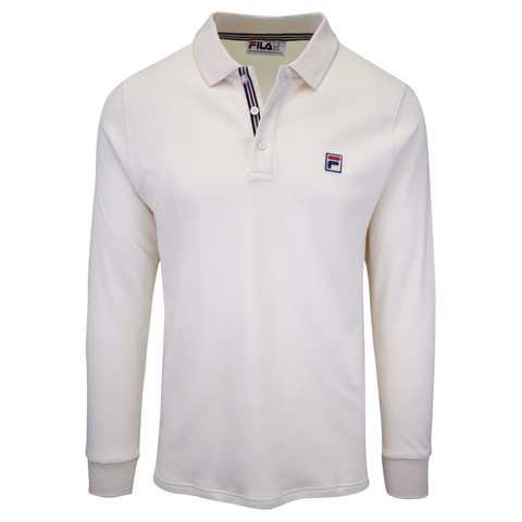 FILA Men's Cream Beige F-Box L/S Polo T-Shirt (S02)