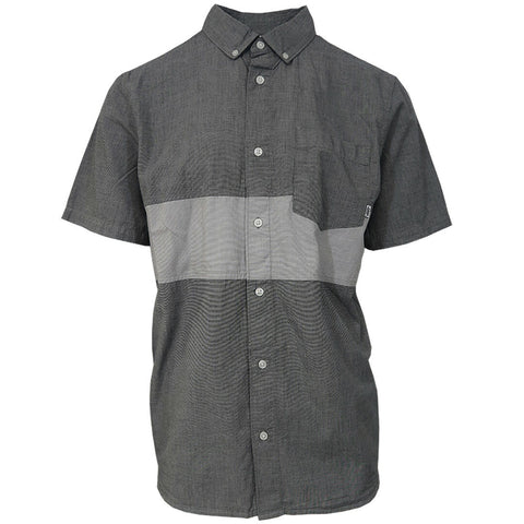 Vans Off The Wall Men's Heather Grey Tone S/S Woven Shirt (Medium Only)