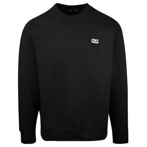 OBEY Men's Black All Eyez Crew L/S Sweater (S01)