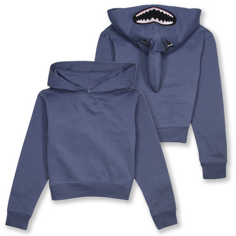 Wild Child Hoodies Kid's Blue Shark Pull Over Hoodie (S01)