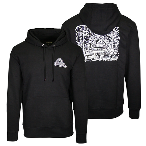 Quiksilver Men's Black Sketch Pull Over Hoodie (S01)