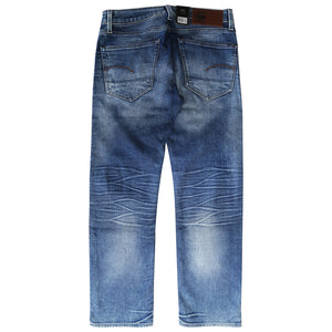 G-Star RAW Men's 3301 Straight Medium Aged Finch Stretch Denim (Retail $150)