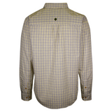 prAna Men's Chatreuse Green White Mini Plaid L/S Woven Shirt (S72)