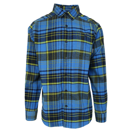 Columbia Men's Fountain Blue Cornell Woods L/S Flannel (Retail $60)