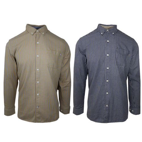 Timberland Men's Checked L/S Woven Shirt (Retail $70)
