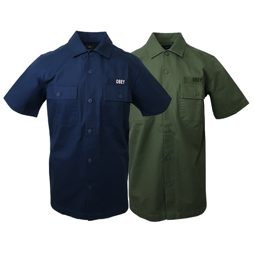 Obey Men's Army S/S Woven Shirt (Retail $80)