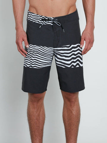 Volcom Men's Black Macaw Faded Mod-Tech Board Shorts (Retail $60)