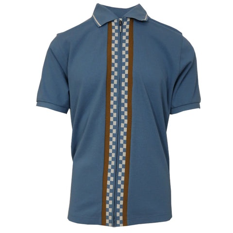 Stussy Men's Julian Full-Zip Polo Shirt (Retail $70)
