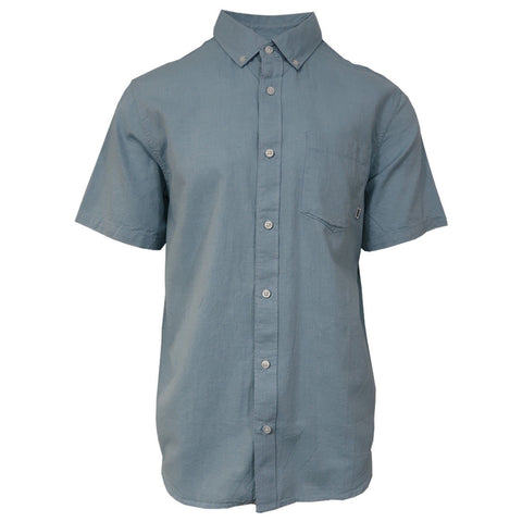 Vans Off The Wall Men's Adriatic Blue Mini-Hex-B S/S Woven Shirt (Retail $42)