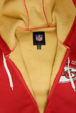 G-III Men's Red Yellow NFL Kansas City Chiefs Rib Knitted Full Zip Hoodie