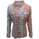 Columbia Women's New Moon Plaid Camp Henry II L/S Shirt 556