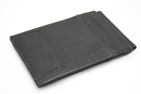 Premium Leather Men's Black Magnetic Bifoldable Card Holder (S60)