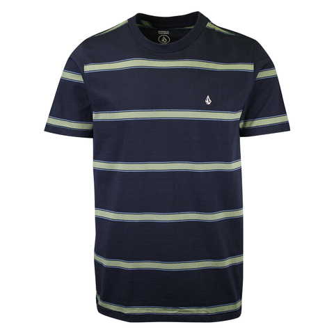 Volcom Men's Navy Da Fino Stripe Heather S/S T-Shirt (S36)
